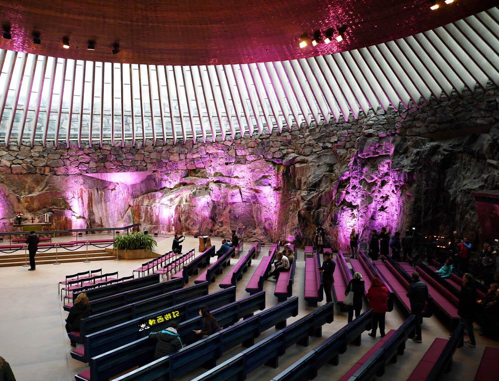 芬蘭赫爾辛基景點》岩石教堂Temppeliaukio Church●聖殿廣場教堂 岩石內建造教堂!圓拱形特殊建築 食尚玩家推薦景點 赫爾辛基景點推薦 芬蘭自由行/芬蘭自助
