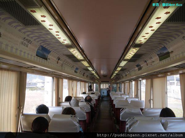 [福岡][Day1]太宰府旅人列車 六種不同花色彩繪列車五分鐘內一網打盡 搭著西鐵電車到太宰府囉~