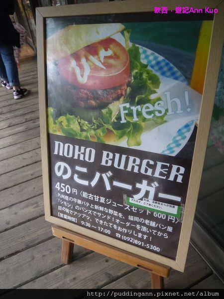 [福岡][Day2]能古島小郊遊Part 2 Island Park油菜花一整片太水了可惜天空不做美~ 還有好吃婆婆手工漢堡喔